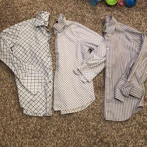 Men's size large bundle of button up shirts